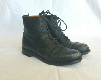 Vintage Ralph Lauren 90s Hook & Eyelet Ankle Boots // Made in England //9B