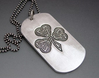 Custom Message Dog Tag Double Sided Necklace