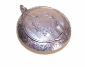 On Reserve - ANTIQUE EDWARDIAN Sterling Silver Power Compact Pendant