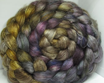 Yak Bombyx Silk 50/50 Roving Combed Top - 5oz - Tanglewood 2