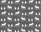 Spoonflower's Moose Trot fabric designed by Ivie Cloth Co. - printed on a variety of cotton fabrics - by the yard