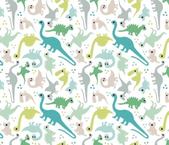 Dinosaur fabric cute baby boy pastel dinosaur fantasy custom for Cute baby fabric prints