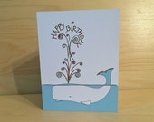 Whale Birthday Card