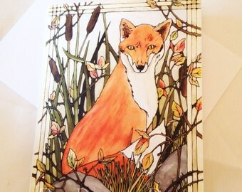 NEW! Fox Greeting Cards Set of 6