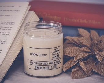 Book Shop soy candle