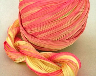 Shibori Girls Hand Dyed Silk Ribbon Mardi Gras Shibori Silk Ribbon