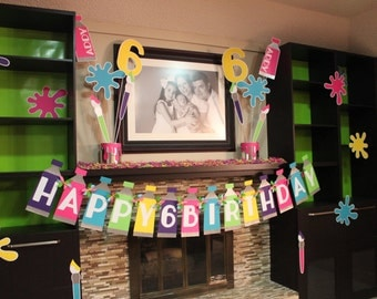 Art Party Birthday Banner *DEAL*