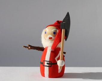 Danish Vintage Woodsman Santa, Made in Denmark, Folk Art Julemanden, Scandinavian Christmas