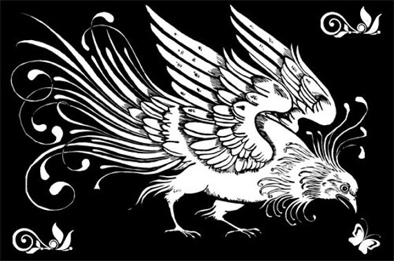 """art deco bird black and white wall art printable Digital download graphics image animals coloring page arts and crafts 8.5 """" x 11"""""""