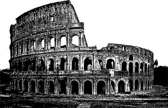 The Colosseum Rome Italy clipart png clip art ancient ruins architecture Digital Image art Download digi stamp digital stamp printables