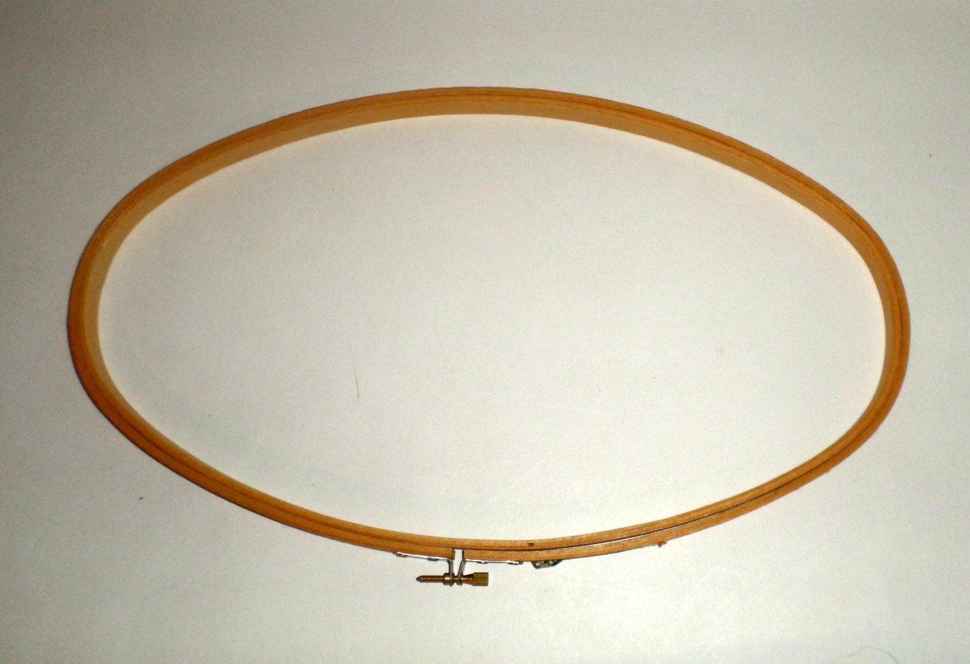 Vintage wood oval hoop wooden embroidery