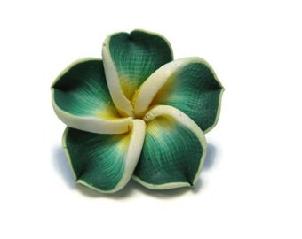 20 mm Polymer Clay Plumeria Flower Beads set of 4 (P25)