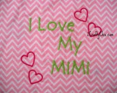 I Love my Mimi Embroidered Bib with Velcro Closure for Babies and Toddlers