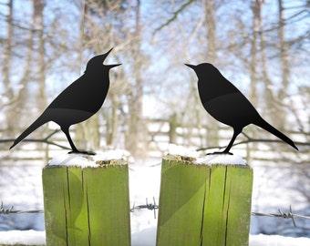 Garden Bird Lawn Ornaments. Love Birds Yard Art for Bird Lovers
