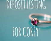 DEPOSIT LISTING For Corey
