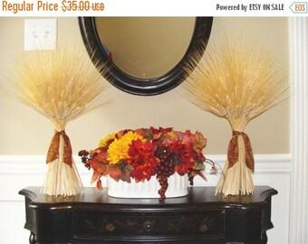 FALL WREATH SALE Fall Harvest Wheat Sheaves- Fall Decor- Thanksgiving Decor- Matching Wheat Fall Decorations- Fall Centerpiece- Mantle Decor