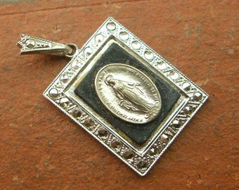 Vintage 925 Sterling Silver Theda Religious Our Lady Of Guadalupe Charm Pendant- 6.3g