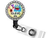 ON SALE - PERSONALIZED Little Monsters Nurse Id Badge Reel - Nurse Gifts, Nicu Nurse, Gifts for Nurses, Pediatric Nurse, Peds, Labor and Del