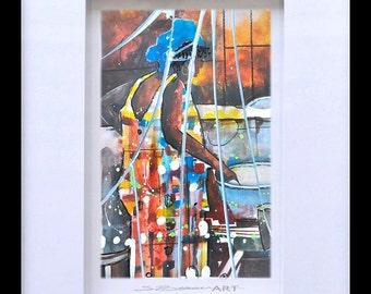 Classy Diva Glass Art African American ArtContemporary