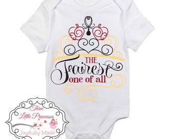 Fairest One of All Onesie or T Shirt - Snow White T Shirt - Snow White Tee