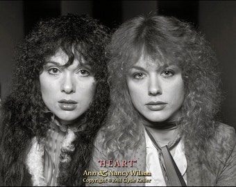 HEART, Ann and Nancy Wilson, Clyde Keller Photo, Fine Art Print, Black and White, 30th Anniversary Portrait, Featured in Storque