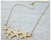 Sale 20% OFF Short Starfish Necklace, pendant jewelry, underwater jewelry