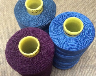Set of 3 Wonderfil Spaghetti Machine Embroidery and Quilting Threads