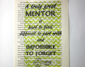 Mentor book page print