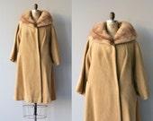 SALE Lilli Ann mohair coat | fur collar 1960s coat | vintage 60s swing coat