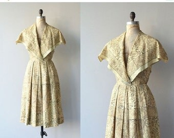 25% OFF.... Bhiwandi dress | indian cotton 50s dress | vintage 1950s dress