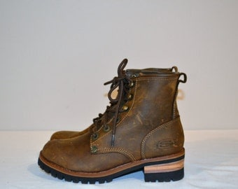 Vintage Chunky Rugged Brown Boots