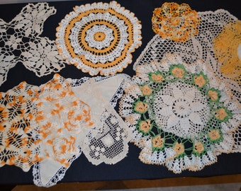Golden Crochet Collection....Ten Pieces