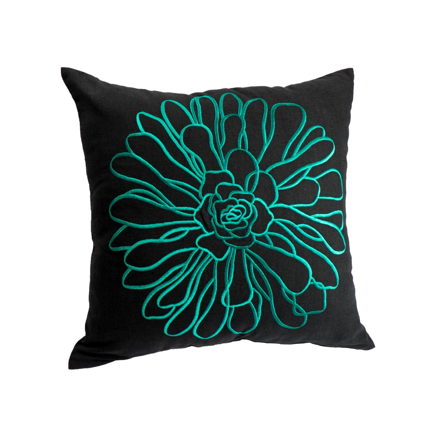 Teal Decorative Pillow Cover Throw Pillow Cover Teal Floral
