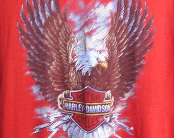 3D Emblem Harley Davidson Daytona Beach Bike Week 1987 T-shirt