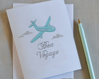 Bon voyage, Plane, Air Plane, Traveling, Travel, Vacation, Fly, Clouds, Card, Greeting Cards,