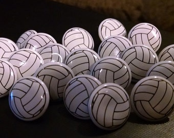 Scrapbooking Volleyball Brads Girls Sports - Set of 20 | Paper Fasteners | Embellishments | Paper crafting