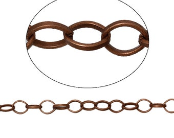 BULK - Antique Copper Chain - 15 feet - #CH74856