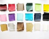 Faux Leather Fabric Bundle in Sheepskin Pattern - Sample Bundle in 10cm Squares - 18 colors