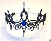 Black REGINA Evil Queen Crown - Hand Wire Wrapped - Choose Your Own COLOR - Cosplay Circlet Bridal Tiara Wedding Hairpiece