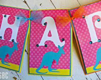 Aussie Happy Birthday Banner...Set of 1 Happy Birthday Banner