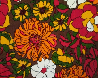 The Most FAB 1960s Cotton Velvet Floral Fabric in the History of the World