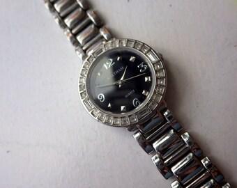 Waltham Ladies Watch - Stainless + Rhinestone - Works/Keeping Time.
