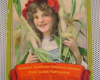 Antique 1909 Farmers YearBook Almanac Virginia-Carolina Chemical~Black Americana