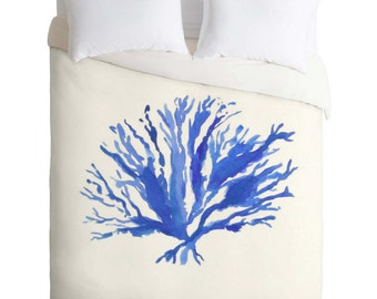 Nautical Sea Coral Duvet Cover