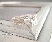 Stackable Ring . Stacking Ring Set . Initial Ring Set . Heart Ring . Teeny Tiny Stacking Ring . Stacking Ring . Brag About It