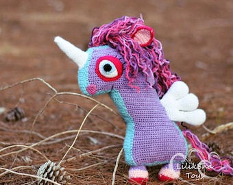 Crochet toy Amigurumi Pattern - Horse with wings (Unicorn).