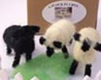 Needle Felted Wool Sheep miniature  **** LOWER PRICE****