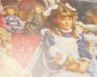 Victorian Birthday Card Sandra Kuck Painting Vintage Ephemera