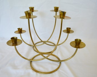 Set of 2 Vintage Brass Candle Holders Perfect for Thanksgiving or Christmas Holiday Tablescape