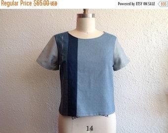 SALE Denim patchwork shirt Sz 8/10